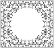 Elegant circle frame with vintage ornament. Elegant circle frame with vintage, floral ornament. Vector image Stock Image