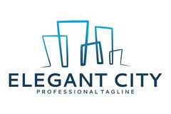 Elegant city logo Royalty Free Stock Photography