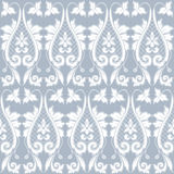 Elegant classic baroque seamless pattern. Blue and white. Vector illustration Stock Photography
