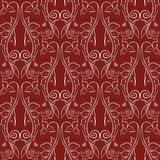 Elegant classic baroque seamless pattern. Red and white. Vector illustration Royalty Free Stock Photo