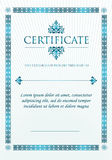 Elegant Classic Certificate of achievement. Vintage frames and border vector illustration