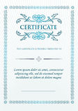 Elegant Classic Certificate of achievement. Vintage frames and border. Stock Images
