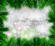 Elegant Classic Christmas Background with baubles Stock Image