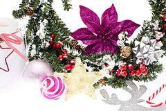 Elegant Classic Christmas Background Card for Royalty Free Stock Photography