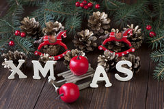 Elegant Classic Christmas Background Card for Holidays Stock Image