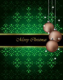 Elegant Classic Christmas Background. Royalty Free Stock Photo