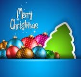 Elegant Classic Christmas flyer Royalty Free Stock Photography