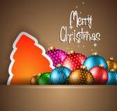 Elegant Classic Christmas flyer Stock Photography