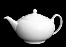 Elegant classic english teapot. Isolated on black Royalty Free Stock Image