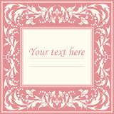 Elegant classic frame with vintage ornament Stock Images