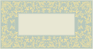 Elegant classic frame with vintage ornament vector illustration