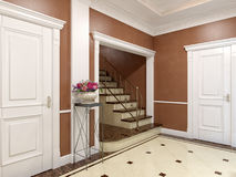 Elegant classic and luxurious hall interior design Royalty Free Stock Photography