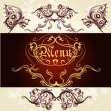 Elegant classic wedding invitation or menu. Retro vector Stock Photos
