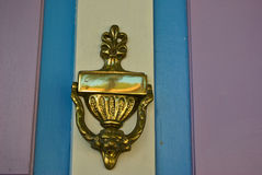 Elegant classical door knocker Royalty Free Stock Photography