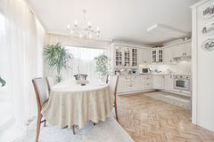 Elegant classical kitchen Royalty Free Stock Images