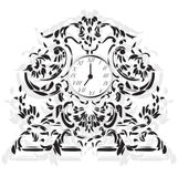 Elegant Clock with Baroque ornaments Royalty Free Stock Photo