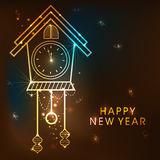Elegant clock for New Year celebration. Stock Photo