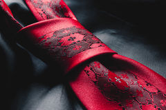 Elegant closeup of a tie knot Royalty Free Stock Images