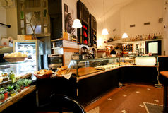 Elegant coffee bar in Rome Stock Photography