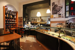 Elegant coffee bar in Rome Stock Image