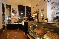 Elegant coffee bar in Rome Royalty Free Stock Photography
