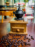 Elegant coffee grinder Stock Photos