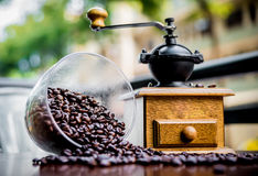 Elegant coffee grinder Royalty Free Stock Photos