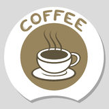 Elegant coffee icon Stock Photography
