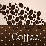 Elegant coffee themed background Royalty Free Stock Image