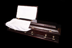 Elegant coffin Royalty Free Stock Photo