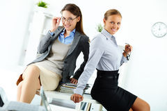 Elegant colleagues Royalty Free Stock Photo