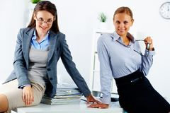 Elegant colleagues Stock Photo