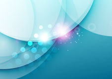 Elegant color waves with light flares Royalty Free Stock Photo