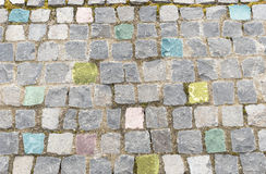 Elegant colored stone wall. Elegant stone wall of a colored square parts Royalty Free Stock Photos