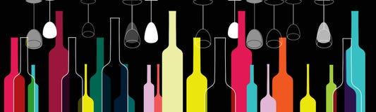 Free Elegant Colorful Bottles And Glasses Illustration Stock Images - 19611824