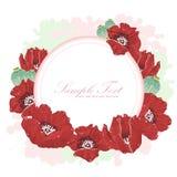 Elegant flower invitation postcard Royalty Free Stock Photo