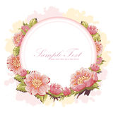Elegant flower invitation postcard Royalty Free Illustration