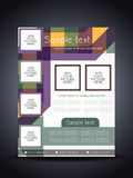 Elegant colorful flyer or cover design template Stock Image
