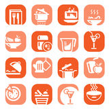 Color food type icons Stock Images