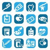 Color health icons Stock Image