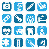 Color medical icon set Stock Photos