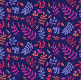 Elegant colorful natural floral seamless vecor pattern Royalty Free Stock Photos
