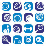 Color sports icons set Royalty Free Stock Image