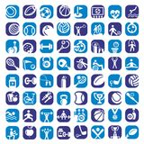 Color sports icons set Stock Photos