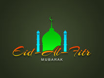 Elegant colorful text design of Eid Al Fitr mubarak. Stock Photography