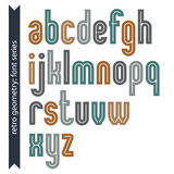 Elegant colorful vector typescript, retro letters Stock Photography