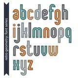 Elegant colorful vector typescript, retro letters Stock Photography
