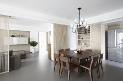Elegant and comfortable home interior stock images