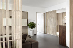 Elegant and comfortable home interior stock image