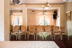 Elegant conference hall Stock Photo